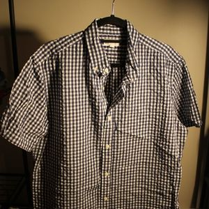 Men's GAP Plaid Short Sleeve Button Up